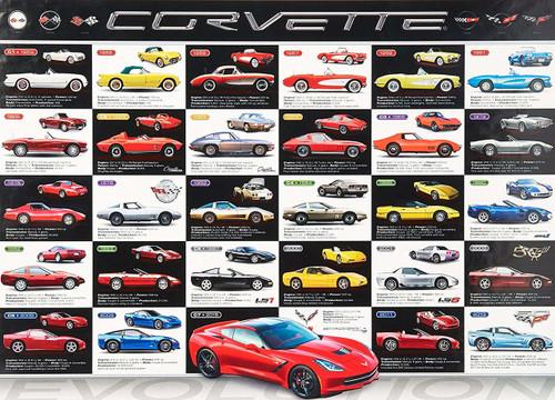 Eurographics Corvette Evolution Jigsaw Puzzle