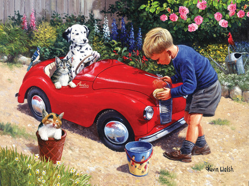 Washing the Car - 1000pc Jigsaw Puzzle By Sunsout