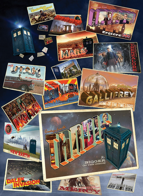 Doctor Who: Postcards - 1000pc Jigsaw Puzzle By Cobble Hill