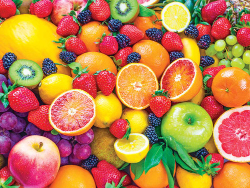 Kodak: Fresh Mixed Fruits - 350pc Large Piece Jigsaw Puzzle by Lafayette Puzzle Factory
