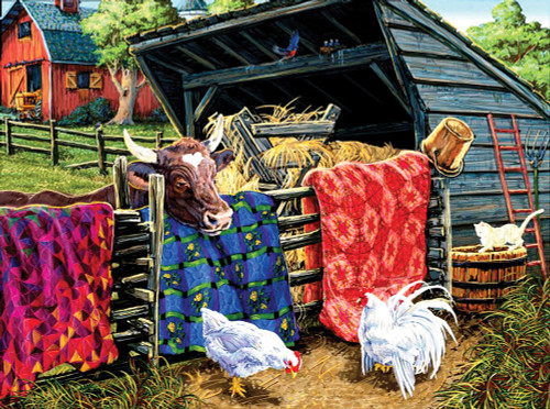 Quilt Cow - 300pc Jigsaw Puzzle By Sunsout