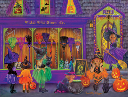 Witch Broom Shop - 300pc Large Format Jigsaw Puzzle By Sunsout