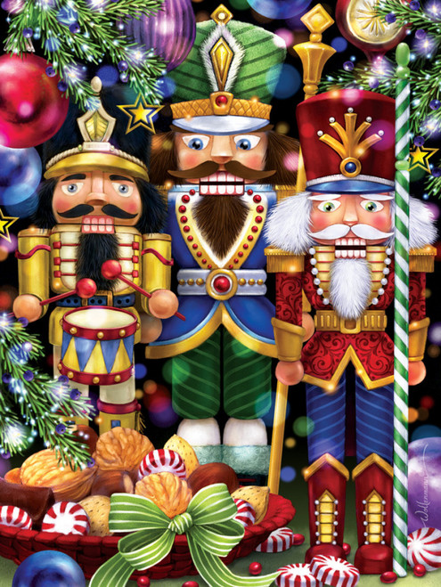 The Three Nutcrackers - 550pc Jigsaw Puzzle by Vermont Christmas Company