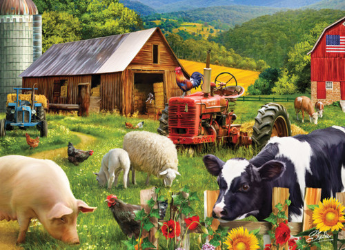Farm Friends - 1000pc Jigsaw Puzzle by Vermont Christmas Company