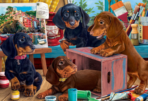 Studio Puppies - 100pc Jigsaw Puzzle by Vermont Christmas Company