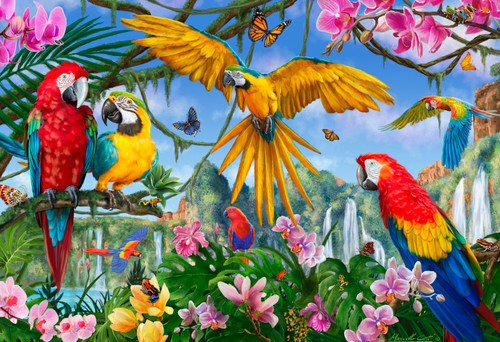 Tropical Birds - 100pc Jigsaw Puzzle by Vermont Christmas Company