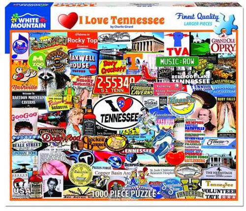 I Love Tennessee - 1000pc Jigsaw Puzzle By White Mountain