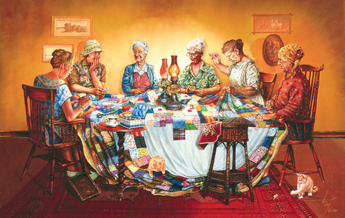 A Quilting Party - 550pc Jigsaw Puzzle By Sunsout