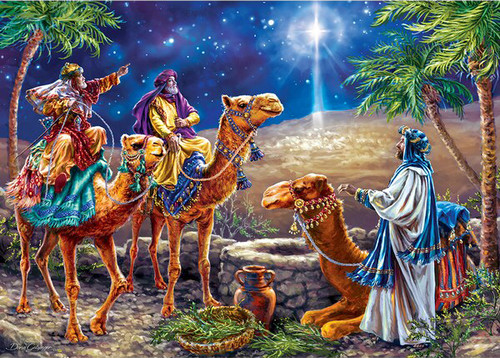 Three Magi (Glitter) - 500pc Jigsaw Puzzle by Masterpieces