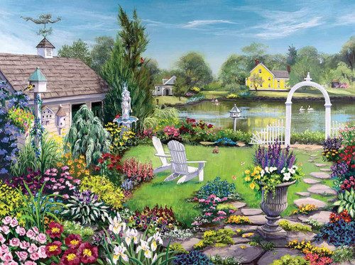 By the Pond - 1000pc Jigsaw Puzzle By White Mountain