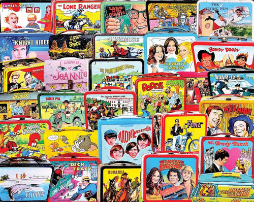 TV Lunch Boxes - 1000pc Jigsaw Puzzle By White Mountain