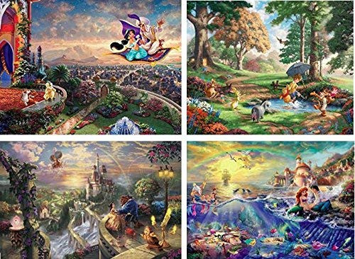 Thomas Kinkade Disney Dreams Collection: 4 in 1 Series 3 Multi-Pack - 500pc Jigsaw Puzzle by Ceaco