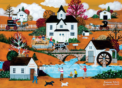 Jane Wooster Scott: Awesome Autumn - 1000pc Jigsaw Puzzle by Ceaco