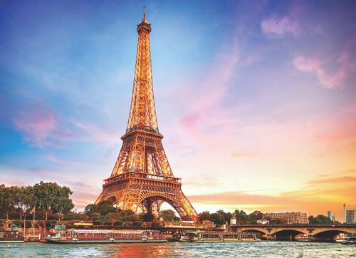 Paris La Tour Eiffel - 1000pc Jigsaw Puzzle by Eurographics