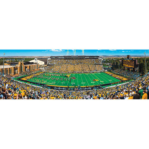 Wyoming Cowboys - 1000pc Panoramic Jigsaw Puzzle by Masterpieces