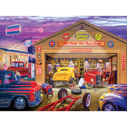 Wheels: Old Timer's Hot Rods - 750pc Jigsaw Puzzle by Masterpieces