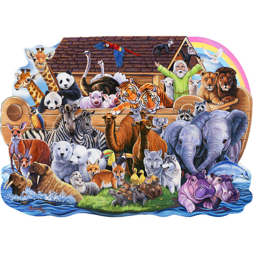 Noah's Ark - 100pc Shaped Jigsaw Puzzle by Masterpieces