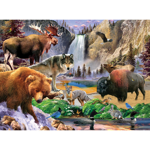 National Parks: Yellowstone National Park - 100pc Jigsaw Puzzle by Masterpieces