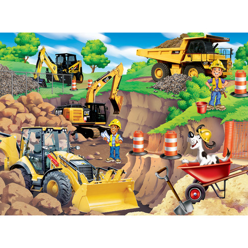 Caterpillar: Day at the Quarry - 60pc Jigsaw Puzzle by Masterpieces