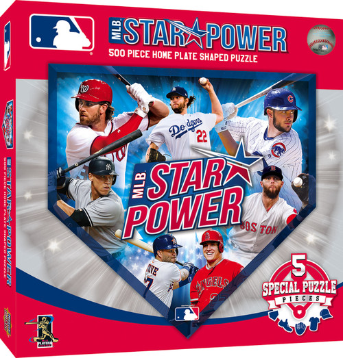 MLB Star Power - 500pc Shaped Jigsaw Puzzle by Masterpieces