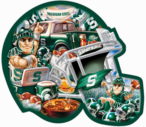 Michigan State - 500pc Shaped Jigsaw Puzzle by Masterpieces