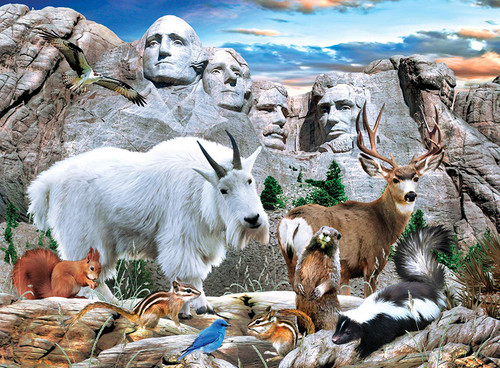 Mount Rushmore - 100pc Jigsaw Puzzle by Masterpieces