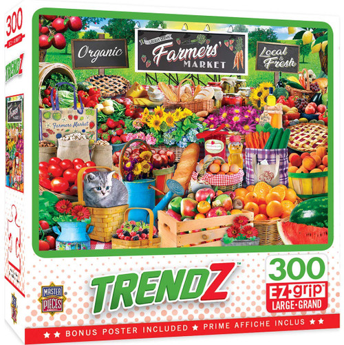 Trendz: Farmers Market - 300pc Large Format Jigsaw Puzzle by Masterpieces