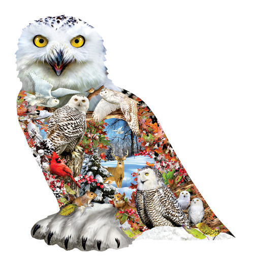 Snowy Owl - 650pc Shaped Jigsaw Puzzle By Sunsout