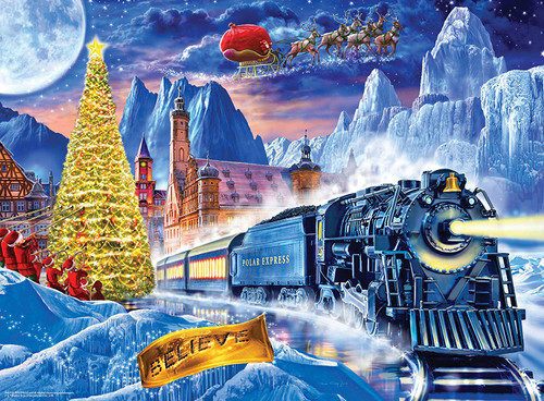 The Polar Express - 100pc Glow-in-the-Dark Puzzle by Masterpieces
