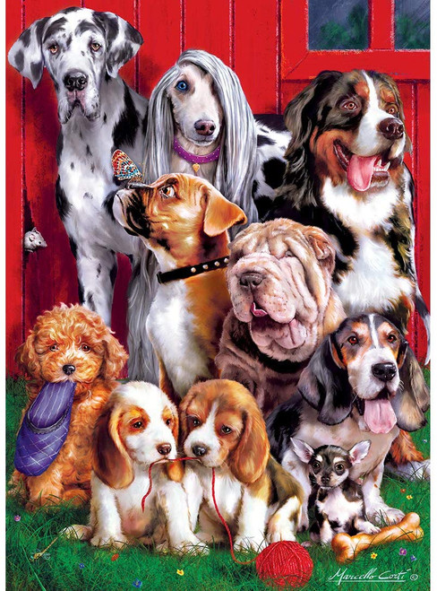 Furry Friends: Sitting Pretty - 1000pc Jigsaw Puzzle by Masterpieces
