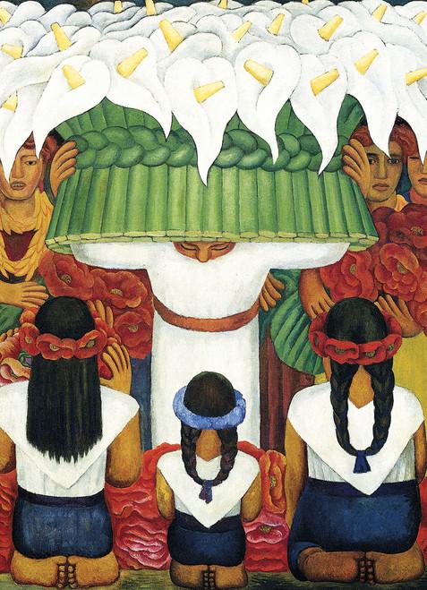 Frida Kahlo & Diego Rivera: Flower Festival: Feast of Santa Anita - 1000pc Jigsaw Puzzle by Eurographics