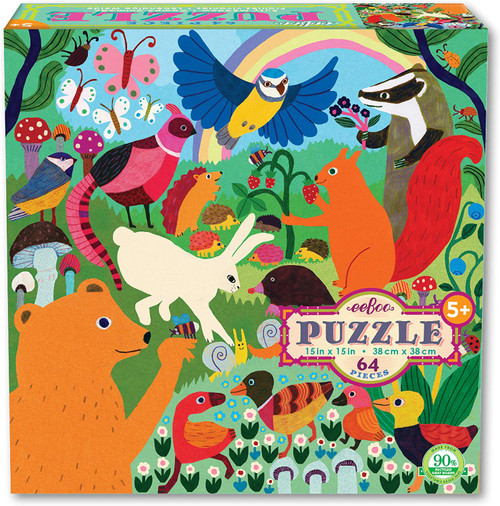 Busy Meadow - 64pc Jigsaw Puzzle by eeBoo