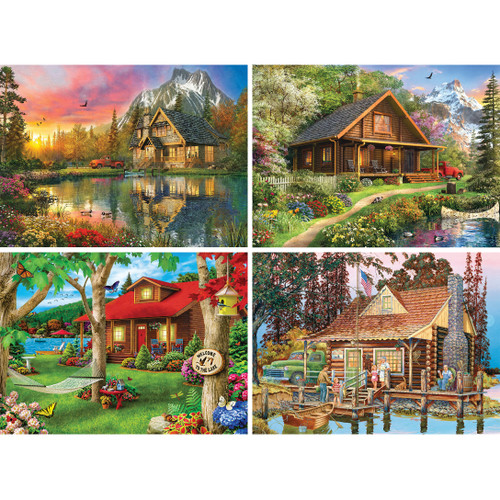 Great Outdoors - 500pc Assortment (4 Pack) Jigsaw Puzzle by Masterpieces