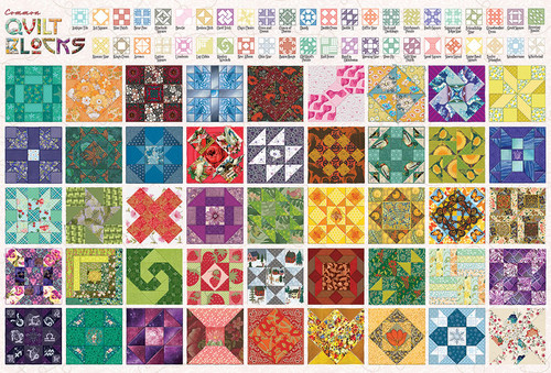 Quilt Blocks - 2000pc Jigsaw Puzzle By Cobble Hill