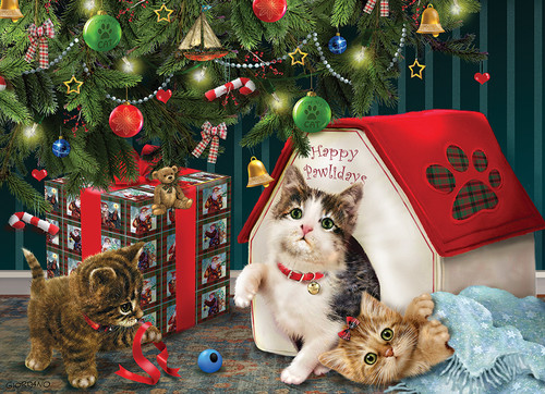 Happy Pawlidays - 350pc Family Jigsaw Puzzle By Cobble Hill