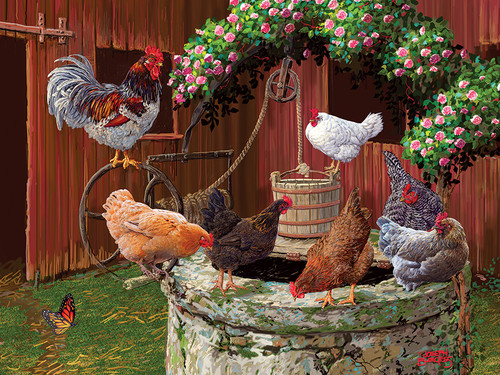 The Chickens are Well - 275pc Easy Handling Jigsaw Puzzle By Cobble Hill