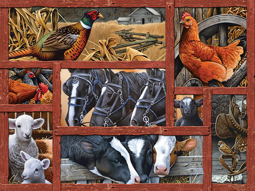 Farmyard Friends - 275pc Easy Handling Jigsaw Puzzle By Cobble Hill