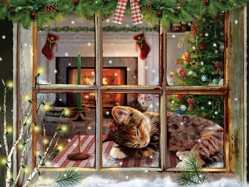 Cat Nap - 275pc Easy Handling Jigsaw Puzzle By Cobble Hill