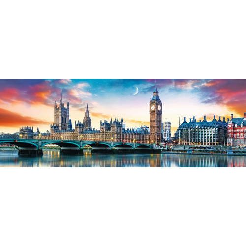 Big Ben and Palace of Westminster, London - 500pc Panorama Jigsaw Puzzle By Trefl