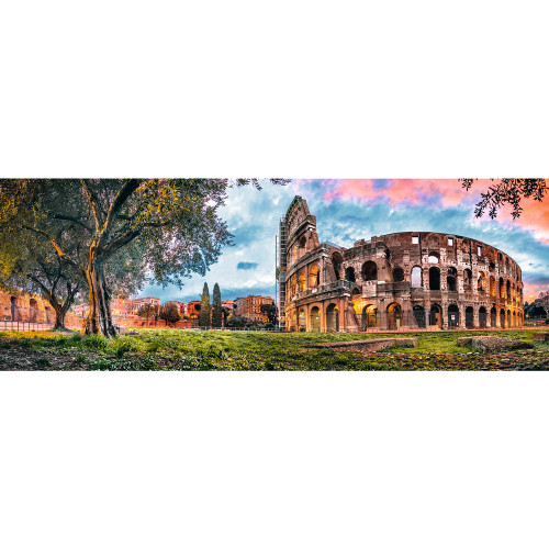 Colosseum at Dawn - 1000pc Panorama Jigsaw Puzzle By Trefl