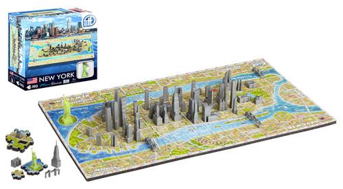 4D Mini New York - 193pc 4D Cityscape Jigsaw Puzzle