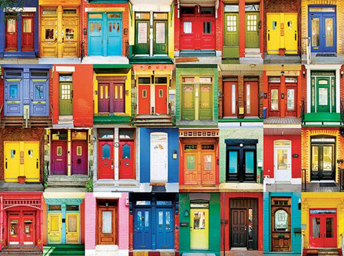 Colorful Montreal Doors - 350pc Jigsaw Puzzle by Kodak Premium Puzzles