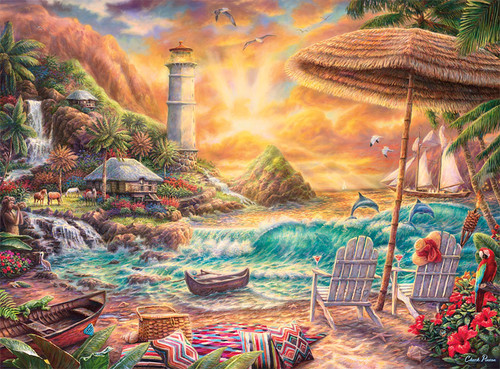 Chuck Pinson Escapes: Love the Beach - 1000pc Jigsaw Puzzle by Buffalo Games