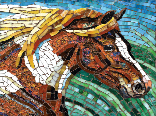 Stained Glass Horse - 1000pc Jigsaw Puzzle By Sunsout