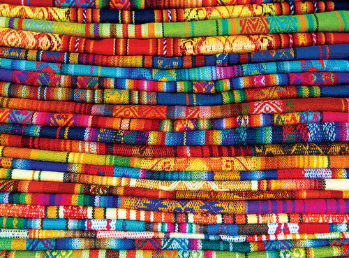Peruvian Blankets - 1000pc Jigsaw Puzzle by Eurographics