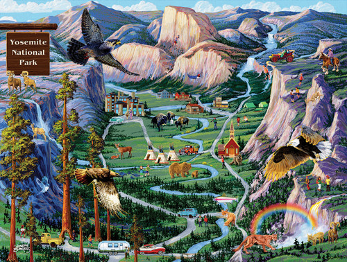 Yosemite Adventures - 500pc Jigsaw Puzzle By Sunsout