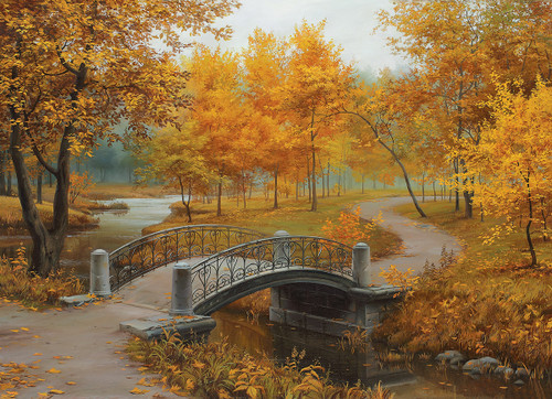 Autumn in an Old Park by Eugene Lushpin - 1000pc Jigsaw Puzzle by Eurographics