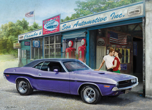 Plum Crazy Challenger by Greg Giordano - 1000pc Jigsaw Puzzle by Eurographics