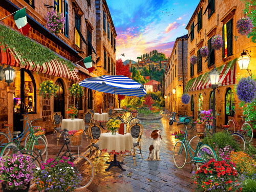 Biking Through Italy - 550pc Jigsaw Puzzle by Vermont Christmas Company