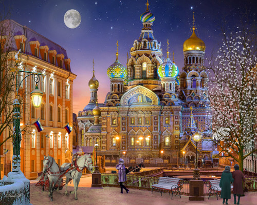 Russia with Love - 1000pc Jigsaw Puzzle by Vermont Christmas Company